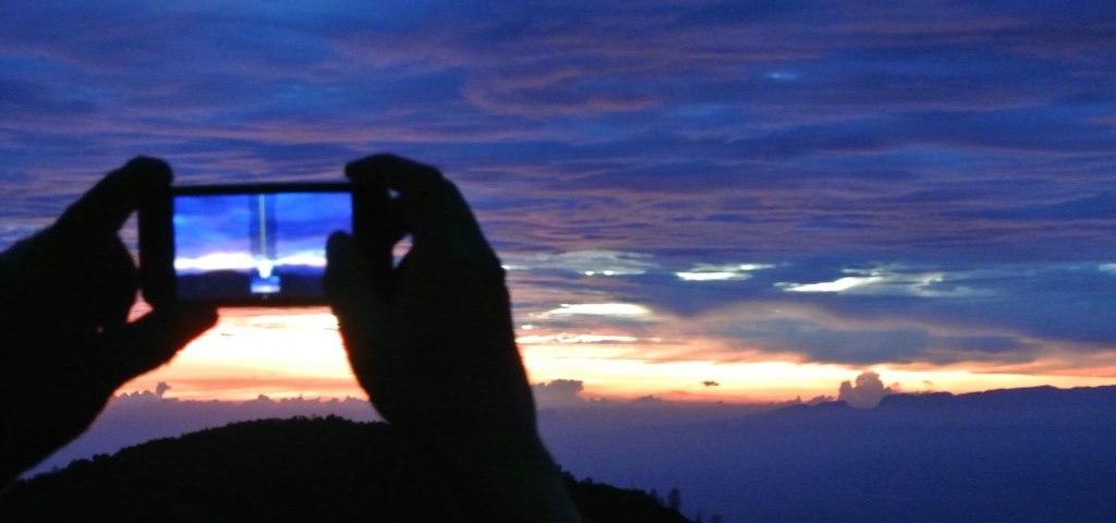 Tagblatt-Leserreise Indonesien 2014_Sicht auf Mt. Bromo