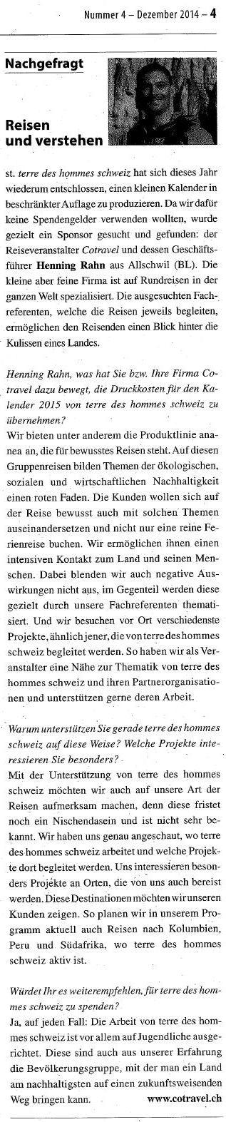 terre des hommes schweiz_Interview cotravel Henning Rahn