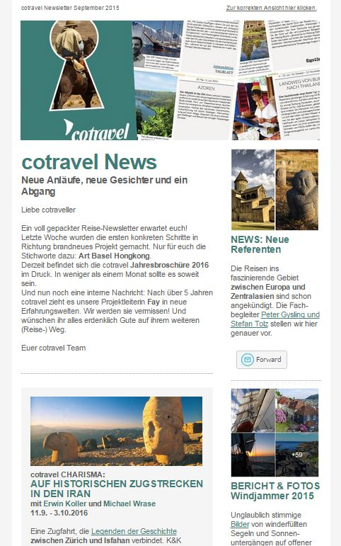 cotravel NEWSLETTER September 2015
