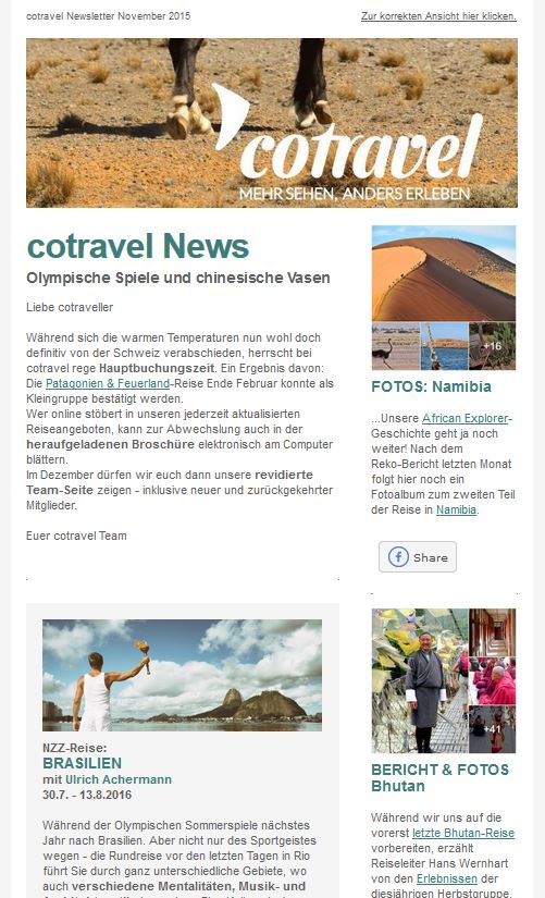 cotravel NEWSLETTER November 2015
