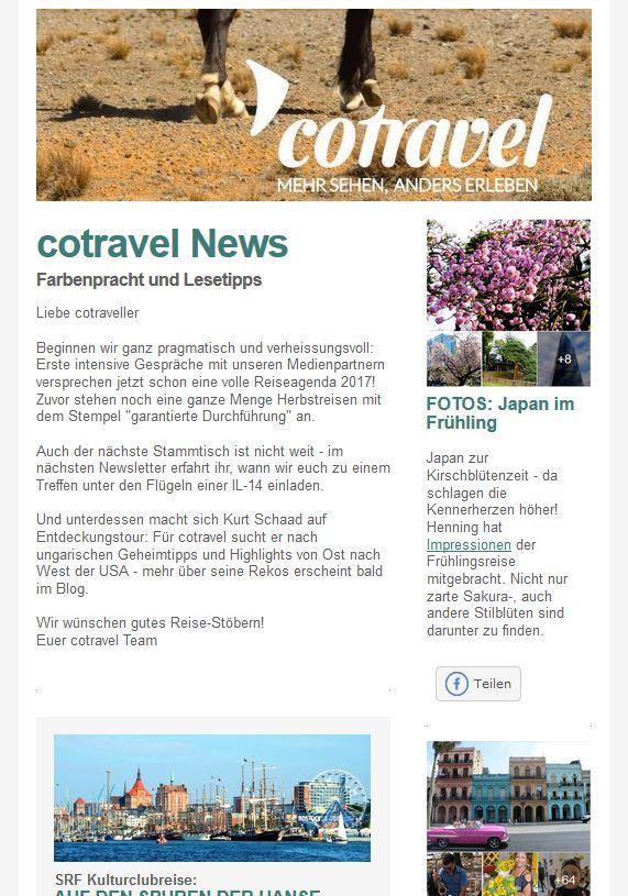 cotravel Newsletter Mai 2016