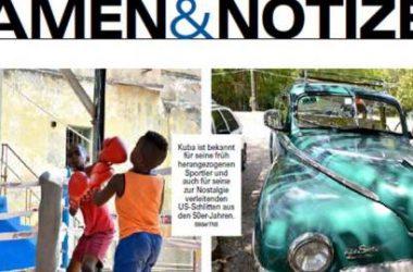Neue Luzerner Zeitung_Namen und Notizen Kuba Leserreise Thomas Bornhauser